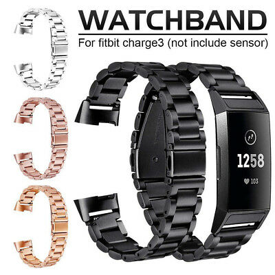 Stainless Steel Metal Replacement Strap Bracelet Wrist Band for Fitbit Charge 3