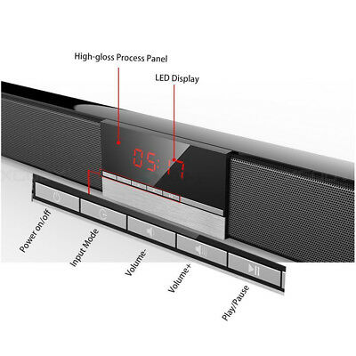 Powerful Optical 40W TV Sound Bar Home Theater Soundbar System Subwoofer Coaxial