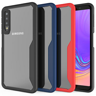 Samsung Galaxy A7 2018 Case, Premium Protection Silicone TPU Hybrid Cover Clear