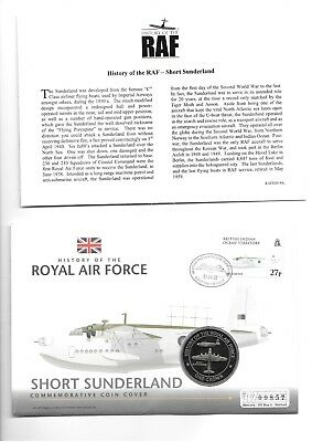 2008 History of the RAF Short Sunderland 1 Crown Coin Cover