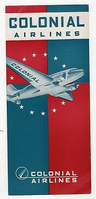 1942 Colonial Airlines Schedule
