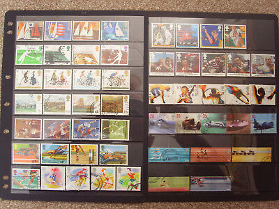LOT#349d - GB QEII COLLECTION; SPORT THEMED SETS; ISSUED 1975-2002 USED Cat c£39
