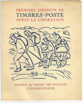 Luxembourg 1944 Liberation Booklet Stamps Cat £35