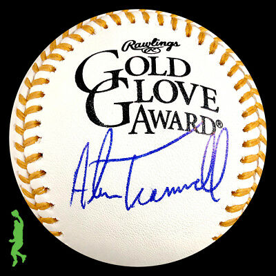Alan Trammell Autograph Signed Gold Glove Award Baseball Ball Tigers Beckett Coa