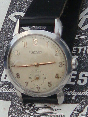 Rotary Deco flared spider crab lugs stainless mens watch in excellent condition