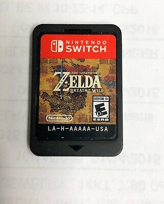 Legend of Zelda: Breath of the Wild (Nintendo Switch, 2017) Game ONLY