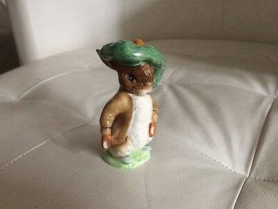 Beswick Beatrix Potter Benjamin Bunny + Hat Bp3B Brown Backstamp Ears Stick Out