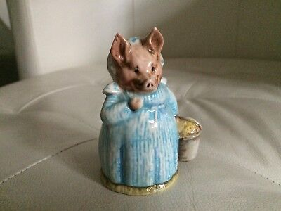 Beswick Beatrix Potter Bp3B Aunt Pettitoes Brown Backstamp