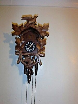Cuckoo Clock 3 weight cuckoo with music box /silent mode 1yr warranty