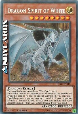 DRAGON SPIRIT OF WHITE (Drago Spirito Del Bianco) Segreta LCKC EN018 Yugioh