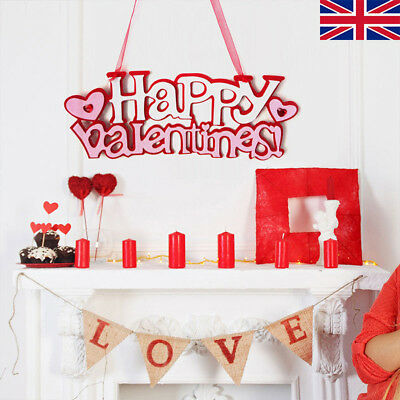 Happy Valentines Fabric Bunting Banner Garland Party Hanging Decor Photo Prop BG