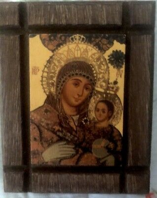 Religious Wood Plaque - Hand Made In Holy Land With Certificate-New-Free Ship