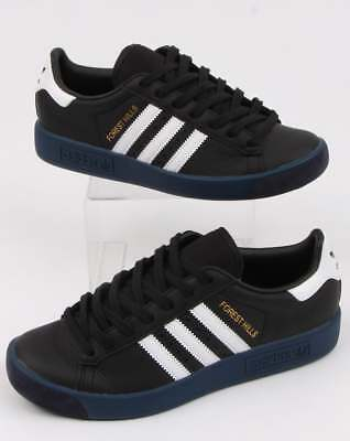 adidas Forest Hills Trainers in Black & White - retro 80s classic