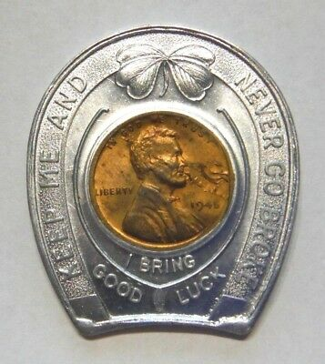 Belleville Illinois Art - Ann Tavern 1945 Encased Lincoln Cent