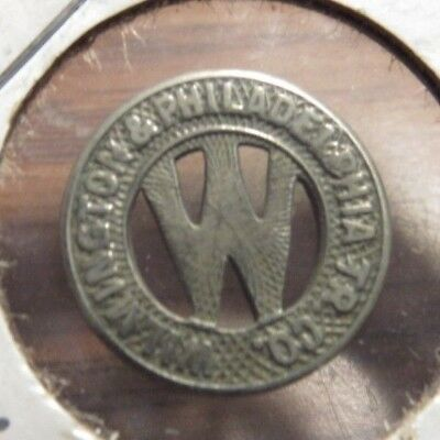 Very Old Wilmington, DE & Philadelphia Tr. Co. Transit Trolley Token - Delaware