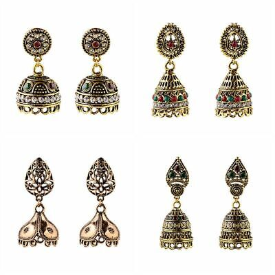 Handmade Indian Bollywood Gold Vintage Women Antique Tribal Ethnic Drop Earrings