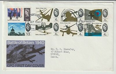 Gb Stamps First Day Cover 1965 Battle Of Britain Bureau Phosphor Rare Collection