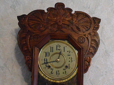 Antique Clock Beautiful Old 1890 Nev Haven Clock Usa