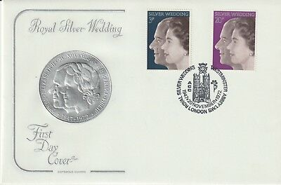 Gb Stamps First Day Cover 1972 Silver Wedding Westminster Abbey Rares Collection