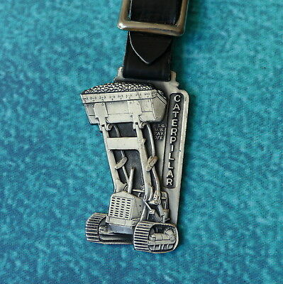 CATERPILLAR Tractor Front End Loader Watch Fob Brebner Machinery Co Green Bay WI