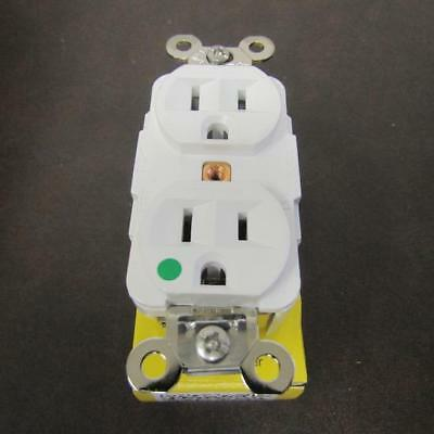 HUBBELL HBL8200W WIRING DEVICE-KELLEMS  Receptacle, 15A, 125VAC, 5-15R, 2P, 3W