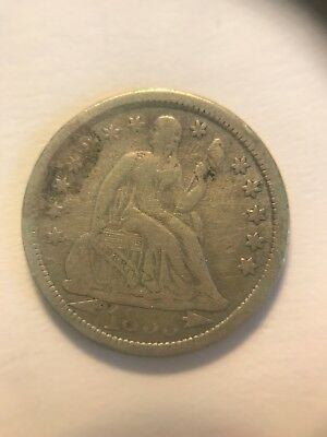 1853 P Seated Liberty Dime With Arrows