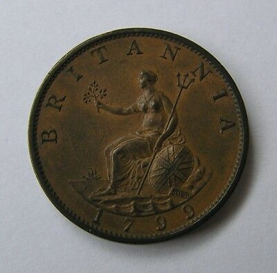 Great Britain 1/2 penny 1799 George II
