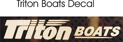 Triton Boats Decals