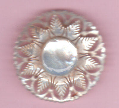 """BETHLEHEM FLOWER MOTHER OF PEARL BUTTON  rose flower sign of purity 1 1/4"""""""