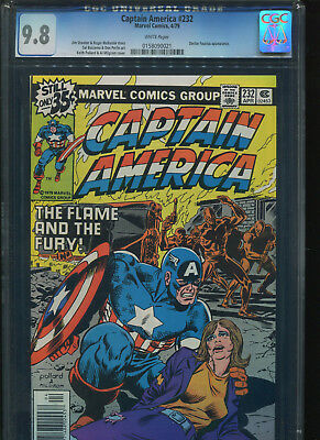 (Bronze Age) Captain America #232 CGC 9.8 White pages