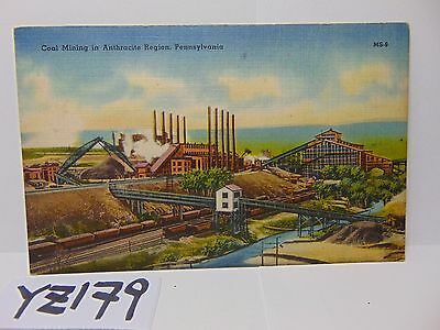 Vintage Posted Postcard Stamp 1947 Coal Mining Anthracite Region Pennsylvania Pa