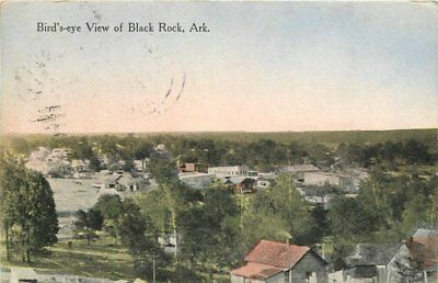 Black Rock Arkansas Birdseye 1914 Postcard hand colored 12627