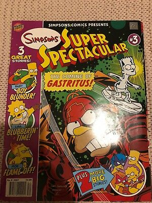 The Simpsons Super Spectacular Comic #3 The Coming Of Gastritus