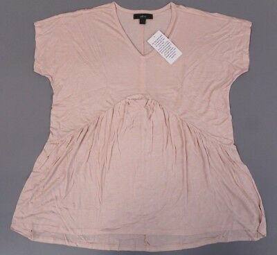 1da0b507388 GRACE ELEMENTS NWT Womens Peasant Top XL Yellow Gold Short Sleeve ...