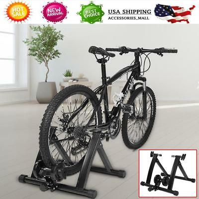 Magnetic Bike Bicycle Trainer Stand 7 Level Resistance Indoor Exercise Folding