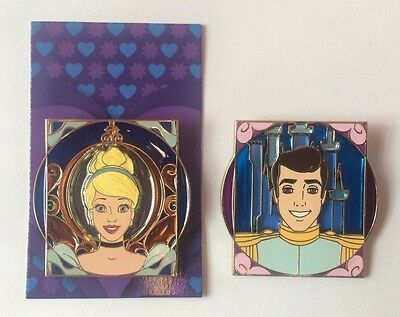 Disney Royalty Pin Cinderella & Prince Charming Princess Reveal & Conceal