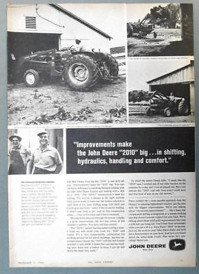 Original 1964 John Deere Ad Photo Endorsed Bob & son Irving Denny of Pekin, Ohio