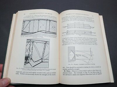 1931 433pg  Mechanics Aircraft Construct & Repair Manual - Fabric / Wood / Metal
