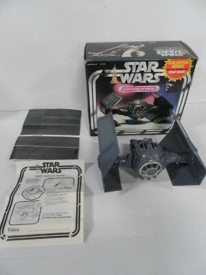 Vintage Star Wars Darth Vader Tie Fighter Vehicle with Box WORKS!