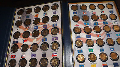 1999-2008 Complete Set of 50 State Commemorative Quarters  Gold Plated Coins