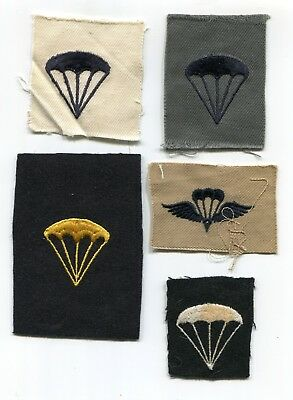 C001 Us Ww2 / Wwii Navy Parachutist Patches Lot Of 5