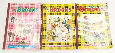 3 x THE BROONS Paperback Comic Book Annuals SUNDAY POST/D.C. THOMSON & CO - W19