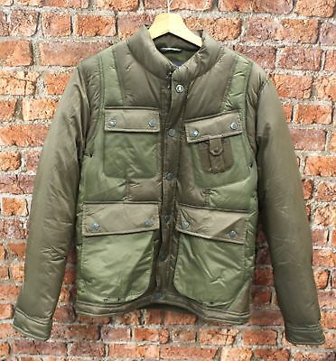 BARBOUR White Mountaineering Olive Green Whinyama Quilt Jacket Coat Size M - P03