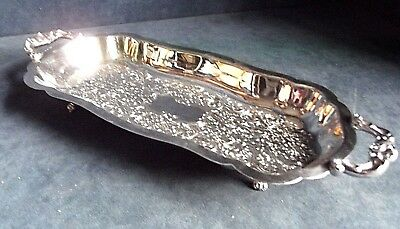 """SUPERB 13"""" ~ GEORGIAN Styled ~ SILVER Plated ~  Salver TRAY ~ by Viners"""