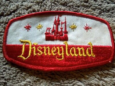 Original Disneyland Castmember Red Woven Sleeping Beauty's Castle Uniform Patch