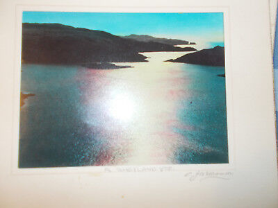 A Shetland Voe 12 x10 mounted photo signed and stamped by CJ Williamson