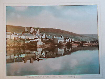Rare East Shore Scalloway 12 x10 mounted photo early embossed by CJ Williamson