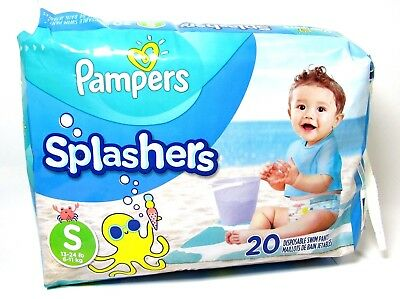 Pampers Splashers Swim Pants Small S Disposable Swimmer Diapers 20 Per Pack