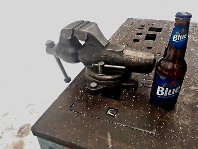 "Vintage Wilton Bullet Vise Machinist 3"" Jaws,Anvil,26 lb.Mod.9300 Great No Resv."