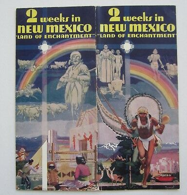 Old Vintage 1938 - NEW MEXICO Travel Brochure - Land of Enchantment - 2 Weeks